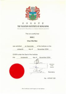 Associate Member of Taxation Institute